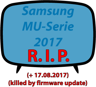 Samsung failed Firmware Update MU-Serie 2017